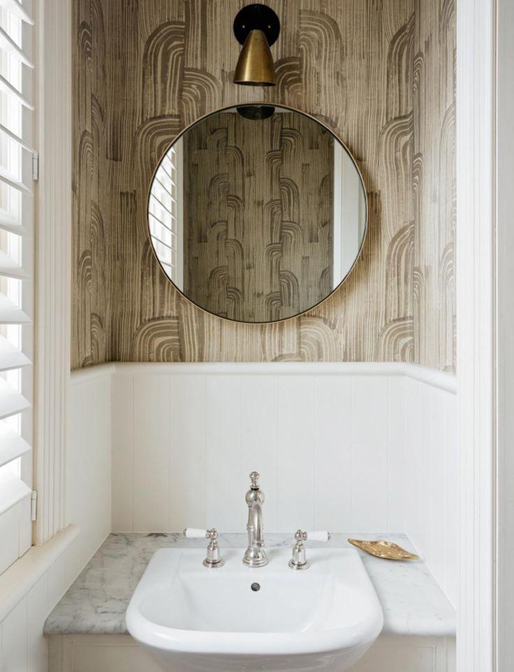 A Wonderful Use Of Wallpaper In A Bathroom