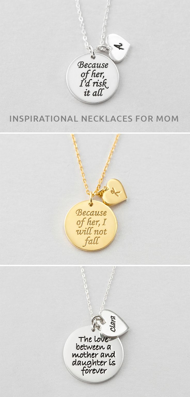 Mother Daughter Matching Necklaces Inpirational Necklace For Mom Engraved Charm Neck Birthday Gifts For Grandma Mom Birthday Gift Birthday Presents For Mom