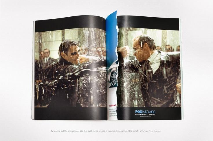 No #commercial breaks. Agency: Leo Burnett (Dubai): Movie Scene, Leoburnett, Matrix Reloading, Foxes Movie, The Matrix, Leo Burnett, Burnett Dubai, Commercial Break, Prints Ads