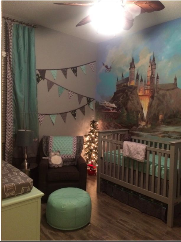 How cute is this Harry Potter nursery?