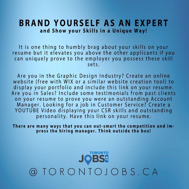 Charming Brand Yourself As An Expert. Www.TorontoJobs.ca. #brandyourself  #careerbrand · Job Search TipsCareer