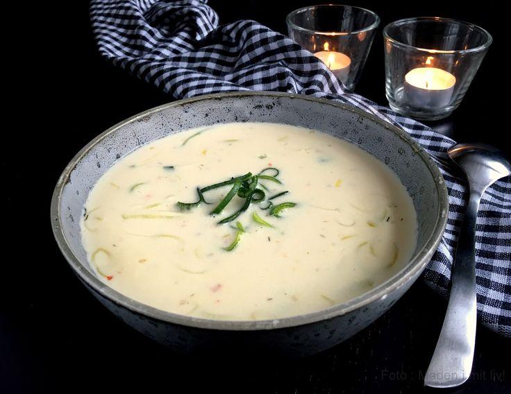 Lækker og cremet ostesuppe med pikantost…