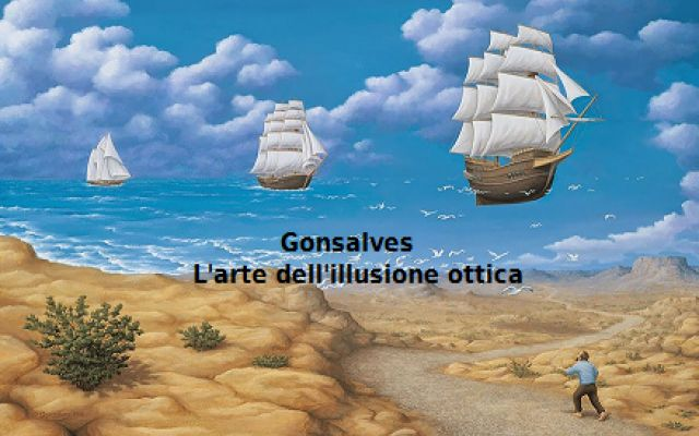 Il pittore Rob Gonsalves e l'arte dell'illusione ottica