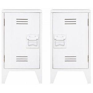 HK-living Nachtkastje wit hout 65x36x33cm, Nachtkastje