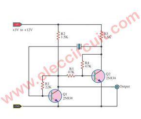 transistor crystal oscillator circuit ideas circuit diagramoscillator astable multi vibrator with crystal controller