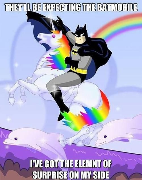 riding with the rainbow unicorns, don't you wish you where me