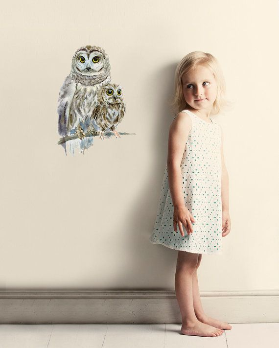 Hey, I found this really awesome Etsy listing at https://www.etsy.com/ca/listing/151534138/woodland-owls-wall-decal-fabric-wall