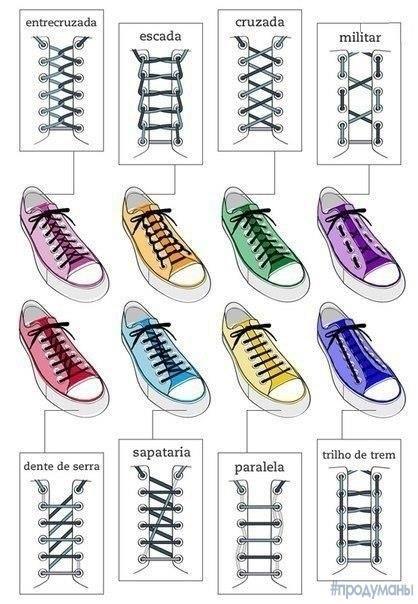 Еще один способ как зашнуровать обувь