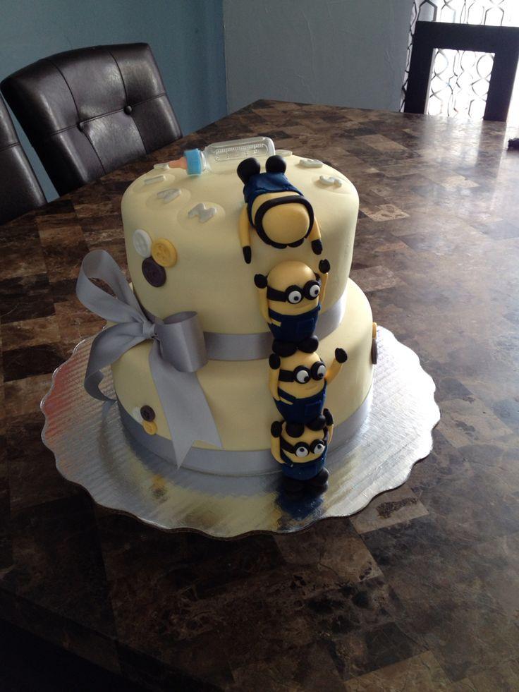 Minions baby shower cake