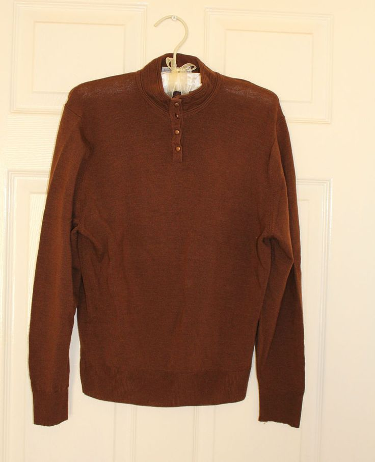 women vintage Jaeger sweater jumper knit Brown  size 10 / 12 / S / M