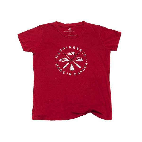 Crest Youth T-Shirt, Canada Red