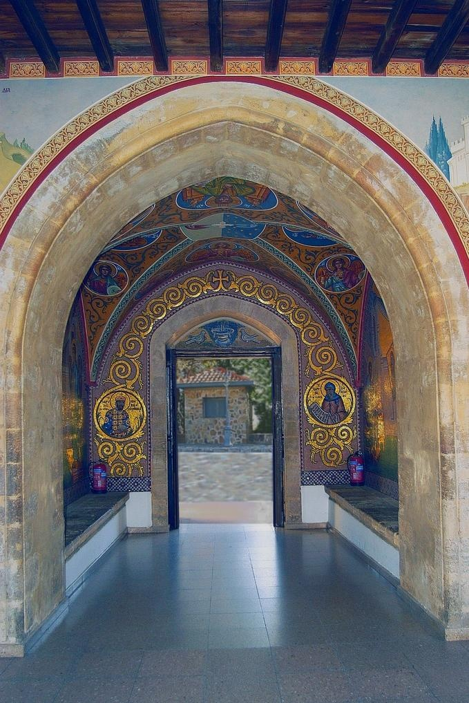 cyprus entrance kykkos monastery