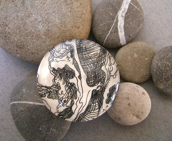 Original OOAK Brooch. Original artwork glass by FerCreations, $25.00