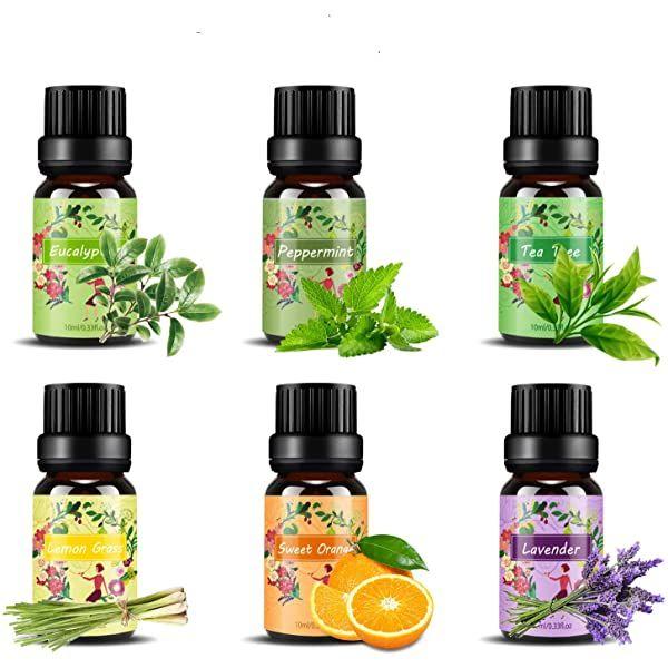 Aceites Esenciales Aromaterapia Esslux Flores Aceites Esenciales Para Humidificador Difu En 2020 Hierba De Limón Aceite Esencial De Lavanda Aceites Esenciales De Menta