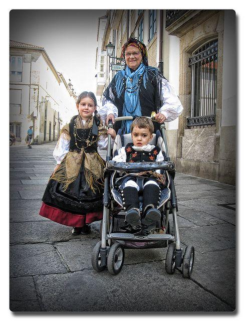 Traditional dress  Santiago de Compostela,Galicia,Spain