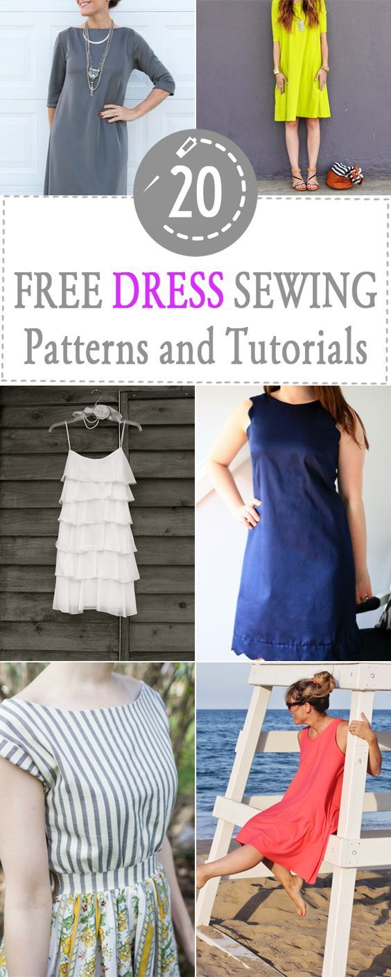 Free dress sewing patterns - 20 easy to sew and fashion savvy dresses to choose from in this great free sewing pattern round-up.