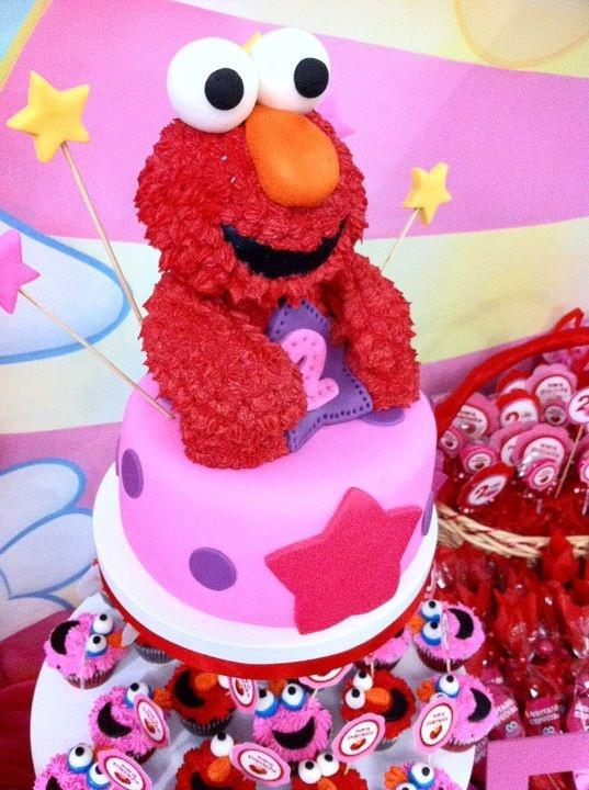 Elmo y Lola  Plaza Sésamo!  Por Piece of Cake Monterrey
