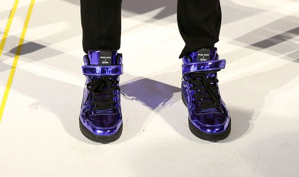 A view of shoes at Wood House Presentation during NYFW: Men's  on January 30, 2017 in New York City.