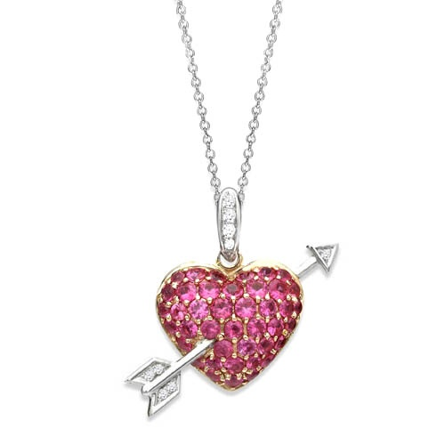 sapphire heart pendant, by Adorn Jewels Adelaide