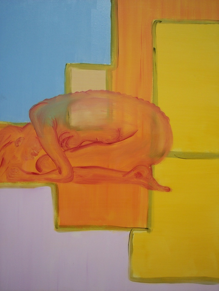 Julie Proudfoot, Oil on Canvas, 48x60inches. 'Fetal' Exhibiting at View Point Handmade Gallery May 4th-24th 2013