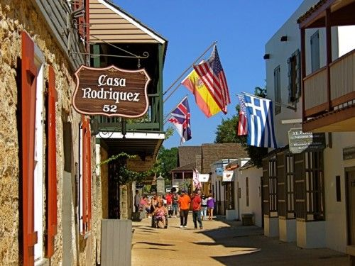 St George Street In St Augustine Is A City In The
