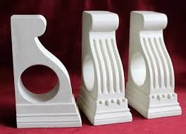 wooden curtain pole bracket designs - Google Search More