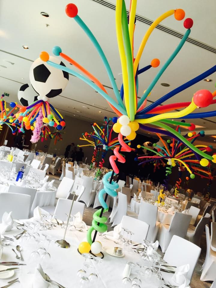 If you are looking for something different as a centre piece these balloons would be perfect. They certainly filled The Lowry Hotel's Grand Ballroom with all the colours of the carnival
