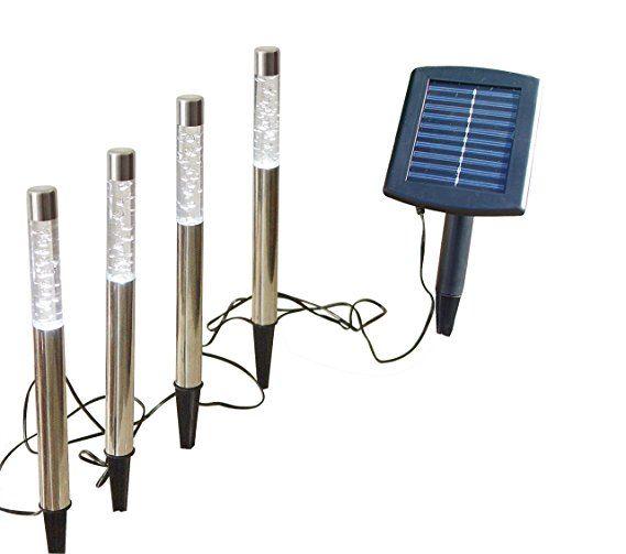 Led Solar Leuchte Wegeleuchte Bubble 4er Set Solarlampe Gartenbeleuchtung Dekoration Stableuchte Outdoor Aussenbeleuchtung So Gartenbeleuchtung Solarlampe Led