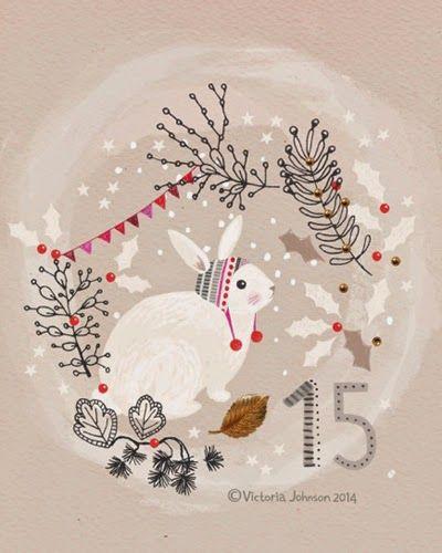 print & pattern rabbit, christmas, art, design, illustration, victoriajohnsondesign.com
