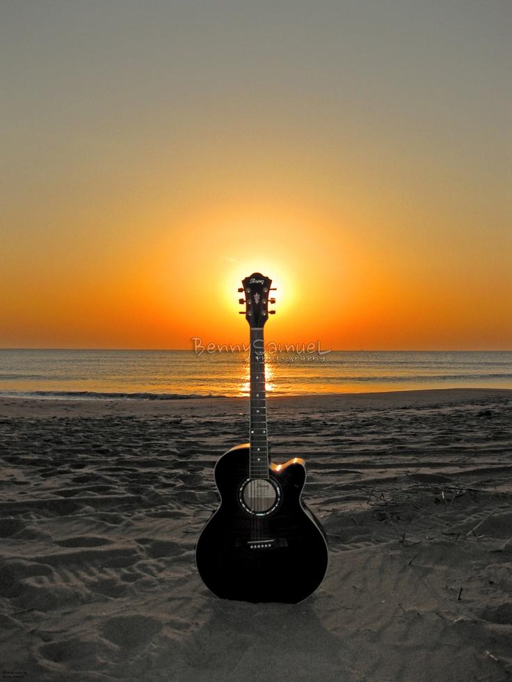 картинки гитара на закате всего разберёмся