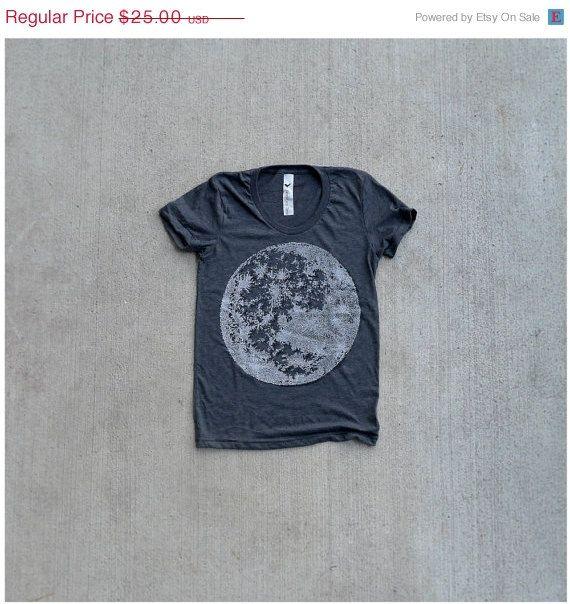 womens fashion tees - My Moon, My Man - S/M/L/XL. $21.25, via Etsy