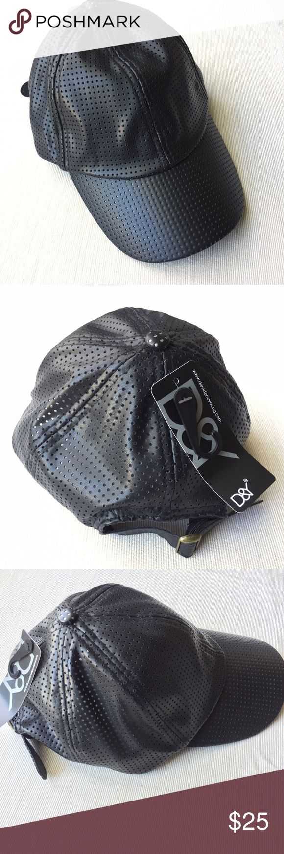 D&Y black faux leather baseball cap D&Y black faux leather baseball cap. Brand New. Never been worn. Very cute! Not Nasty Gal, but Posted as such for exposure. Please feel free to ask questions. Thank you. Nasty Gal Accessories Hats