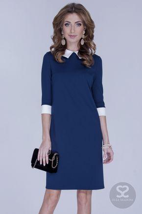 Платье в ретро-стиле прямого кроя от дизайнера | Skazkina