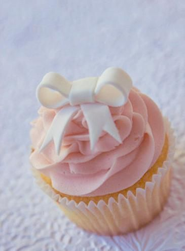 Baby shower cupcake. For a girl!