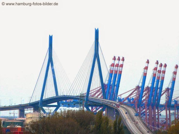 Köhlbrandbrücke Hamburg - Brücken in Hamburg http://www.hamburg-fotos-bilder.de
