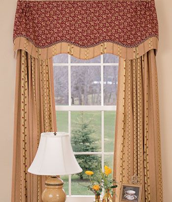 Andover lined layered scalloped valance country curtains pinterest valances living room for Lined valances for living room