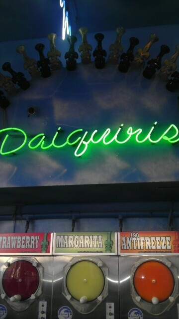 New Orleans Daquiris ~ they are in these big things that look like Slurpee machines!
