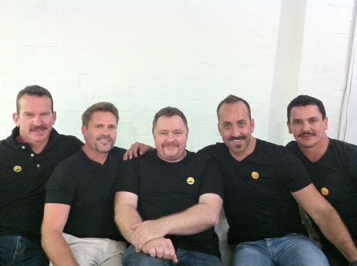 Movember men in armour!