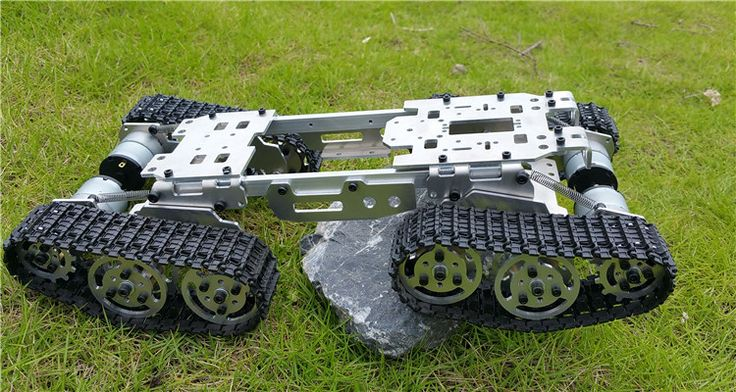 WZY569 Разведки RC Танк Автомобилей Грузовик Робот шасси 393 мм * 206 мм * 84 мм С ЧПУ Сплава корпус + 4 Пластиковые дорожки + 4 Двигателей купить на AliExpress