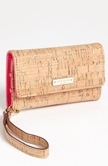 Kate Spade! cork phone wallet with wrist strap