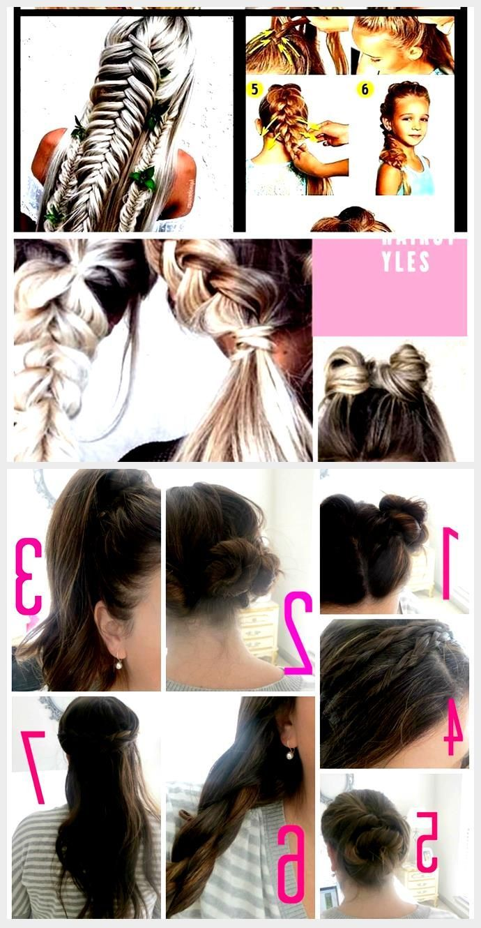 Hair Styles For School Indian step by step braid easy ...