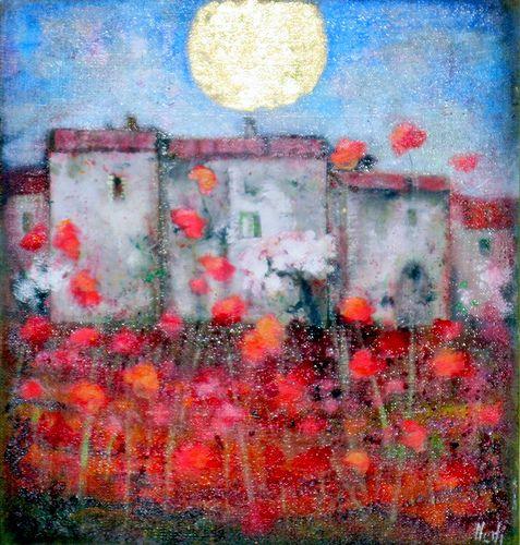 Lucia Merli - Impressione estiva(80X84) photo by Lucia Merli arte