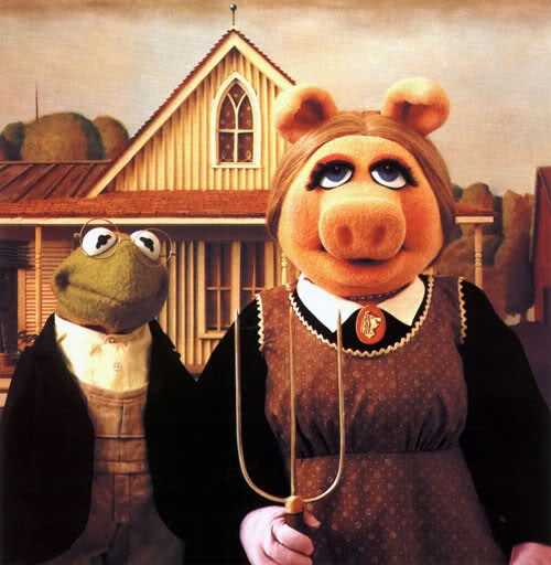 American gothic muppet parody
