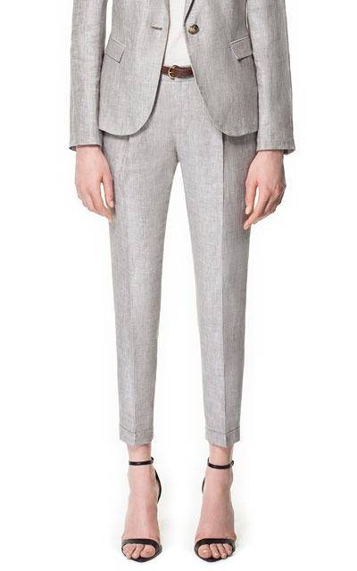 pantalon lino vigore pantalones mujer zara ecuador. Black Bedroom Furniture Sets. Home Design Ideas