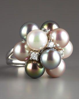 Majorica Pearl Cluster Rin....wow