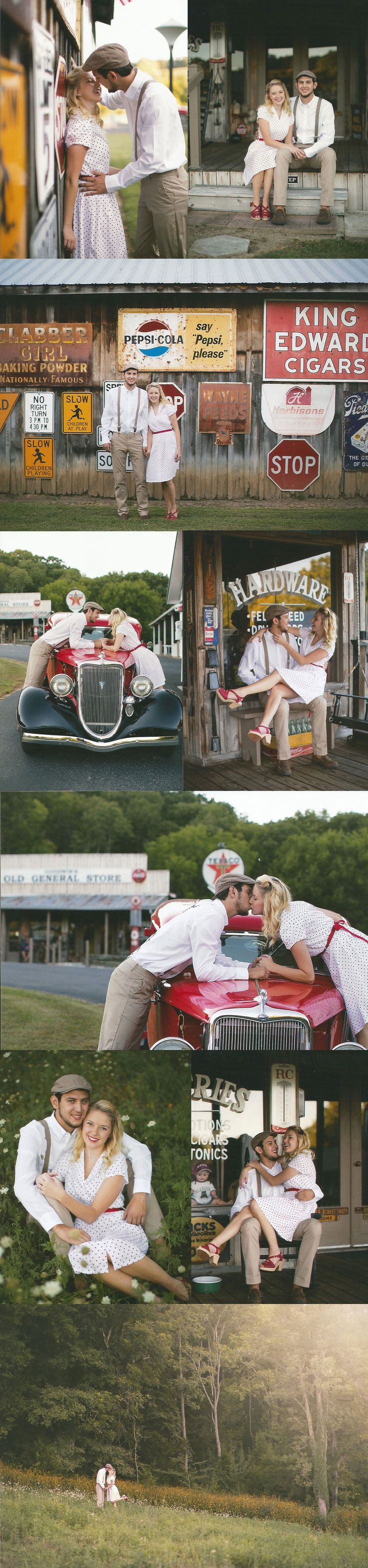 """Just got engaged? Need some inspiration for a unique engagement shoot? Look no further! On my blog I've compiled a list of fun ideas for you and your significant other. While reminiscing on my engagement photos with a """"The Notebook"""" / Retro / Old time feel theme  Wifey + Lifey"""