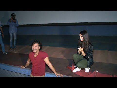 Tiger Shroff & Shraddha Kapoor ENTERTAINS their fans in theatre.