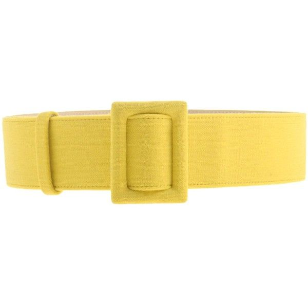 Fausto Puglisi Belt ($67) ❤ liked on Polyvore featuring accessories, belts, yellow, wide belt, yellow belt, fausto puglisi and wide yellow belt