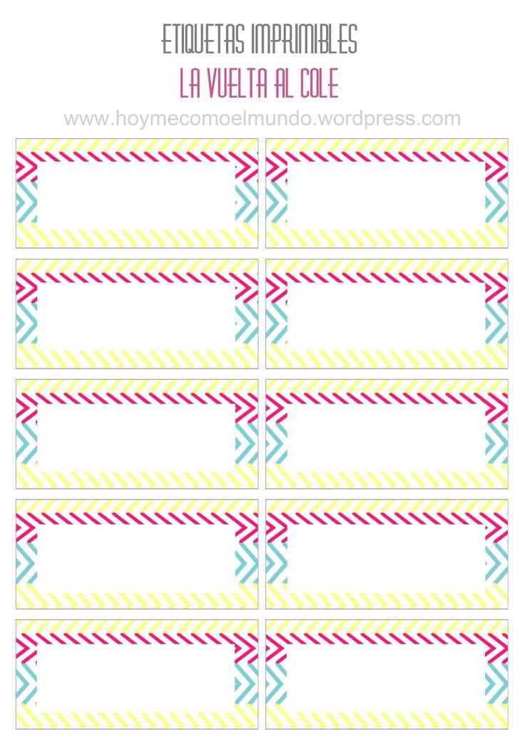 Etiquetas para cuadernos pinteres for Actividades para jardin de infantes para imprimir