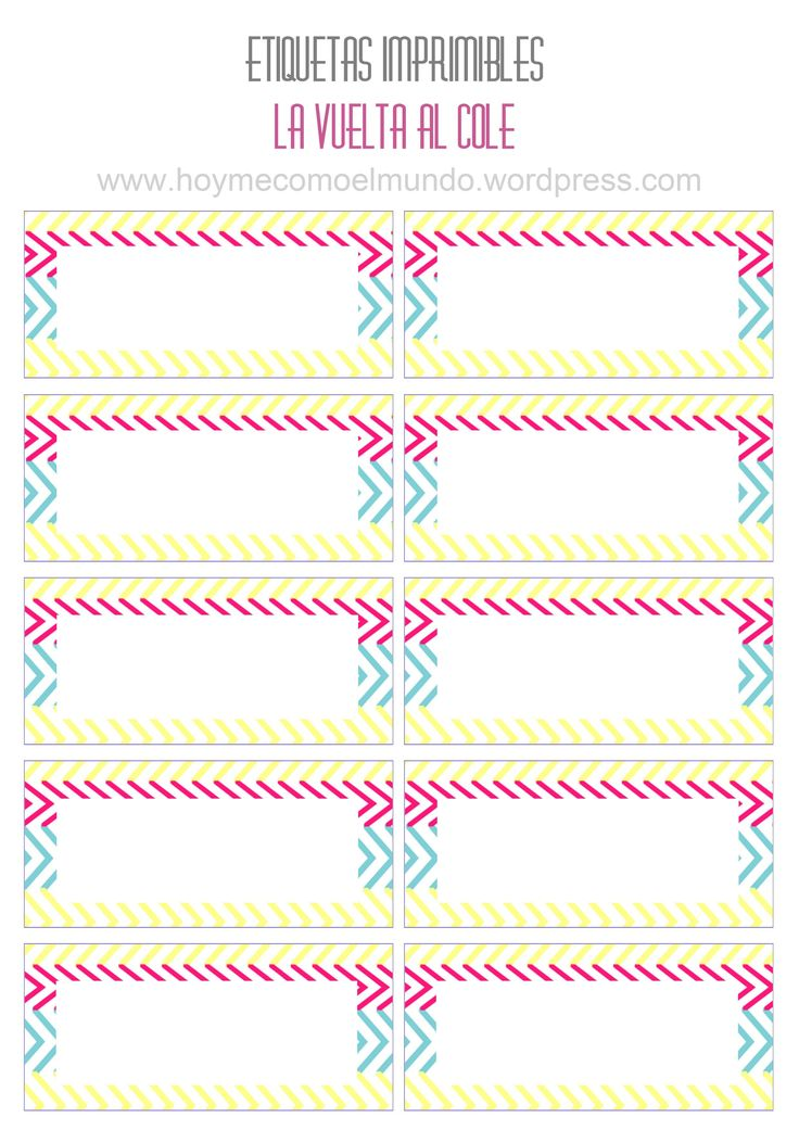 M s de 1000 ideas sobre etiquetas para cuadernos en for Medidas de mobiliario escolar inicial